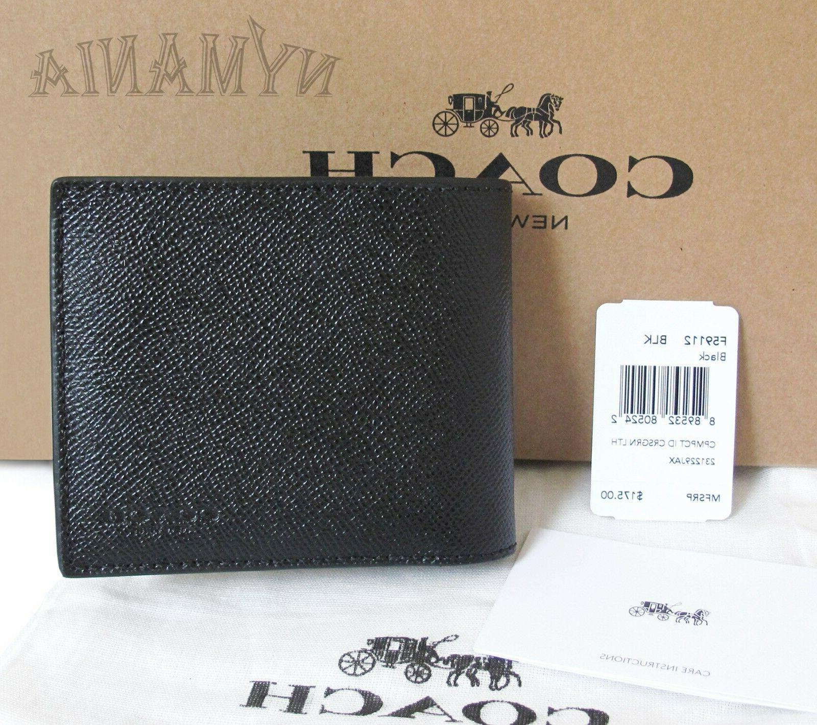New Mens 3-IN-1 Crossgrain Leather Wallet BOX