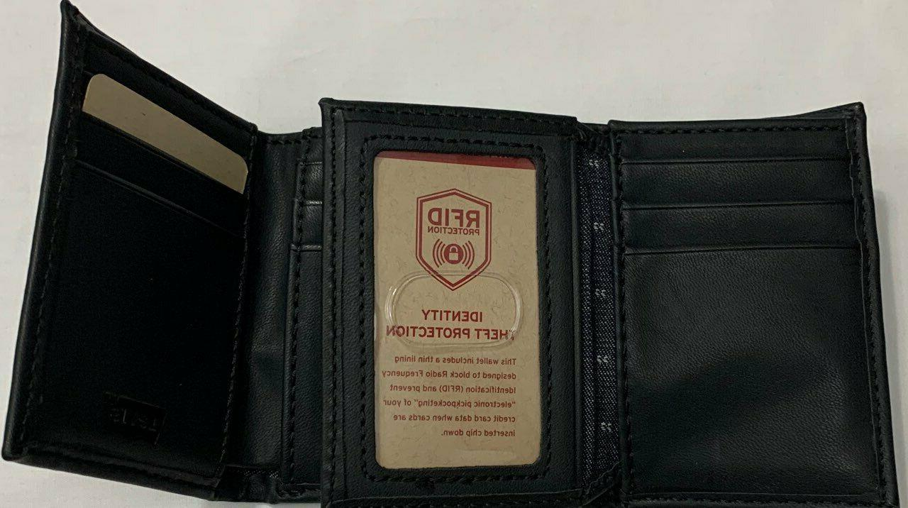 New Leather Trifold Color $14.50