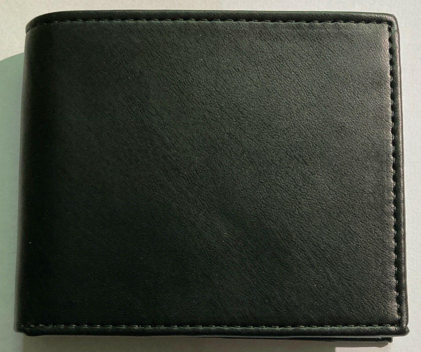 NEW Levi's Bi-Fold Wallet with RFID and Holder Black