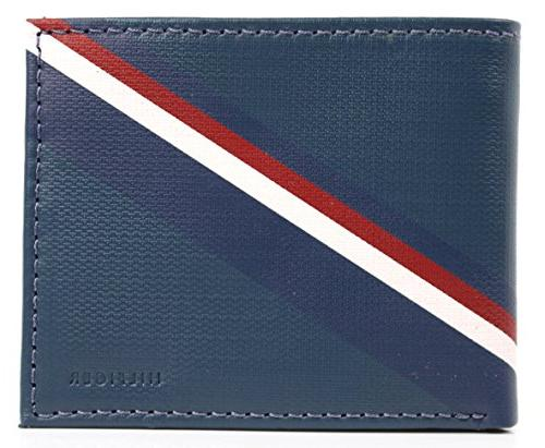new men s leather double billfold passcase