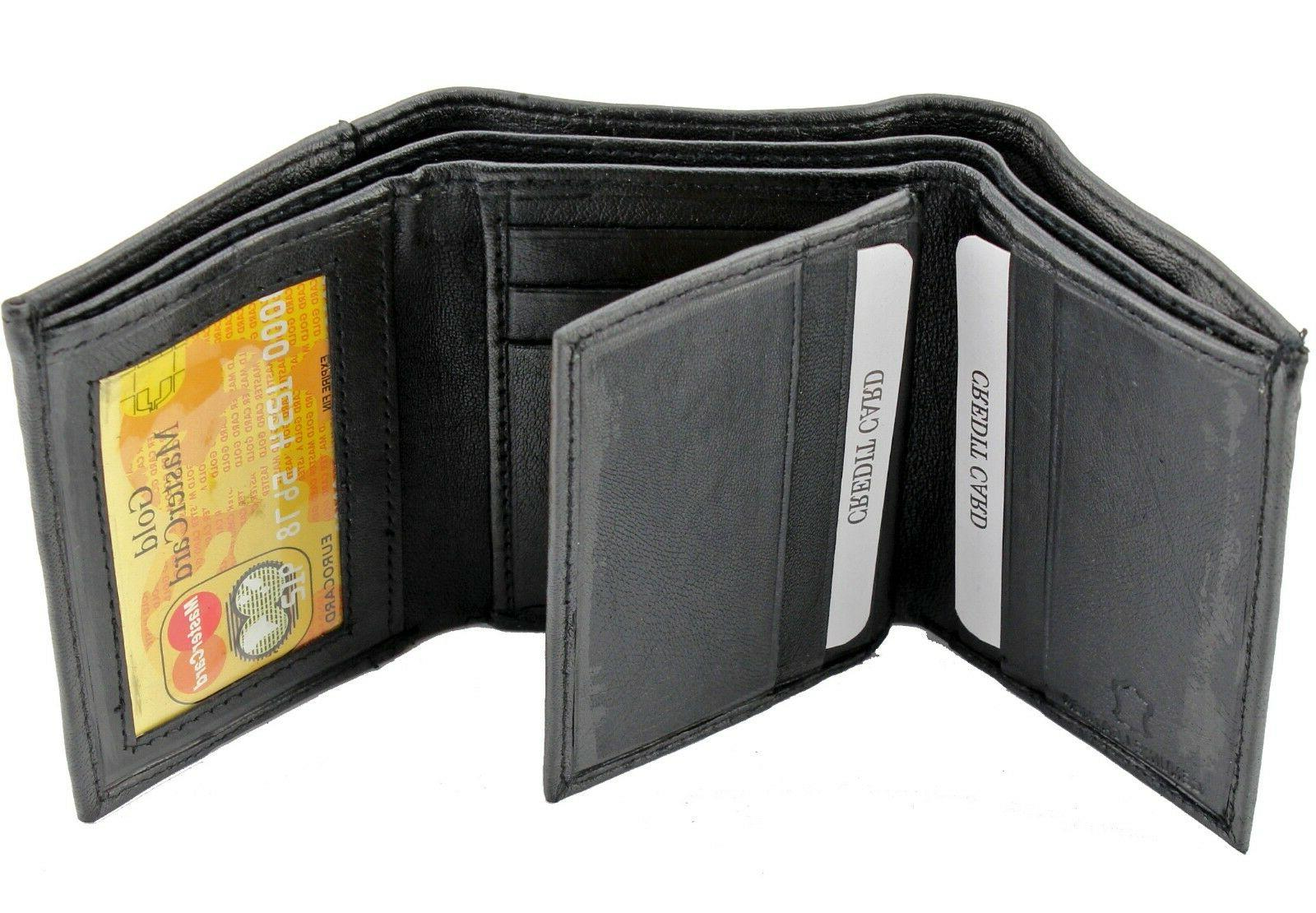 Leather Trifold Window Case Holder