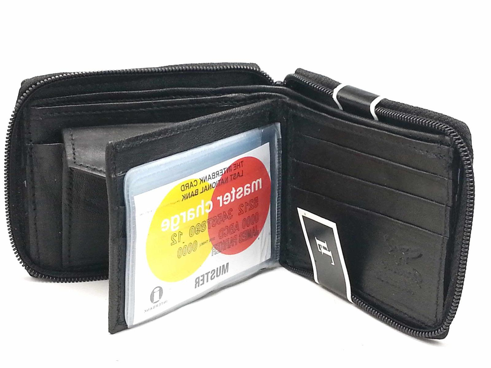 New Zip Secure Zipper Around Wallet Black Key