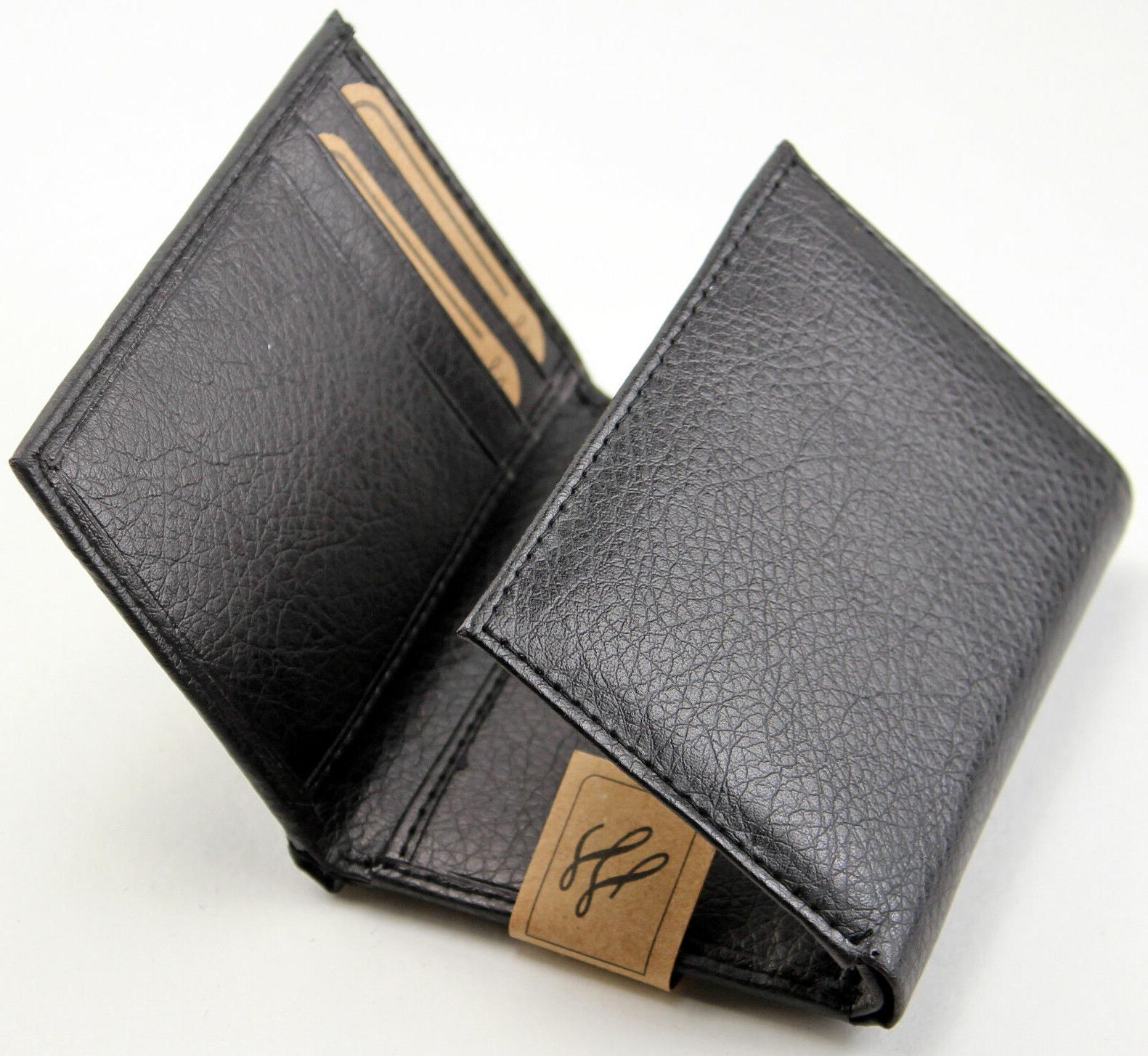 New Trifold Leather Credit Card Case Holder