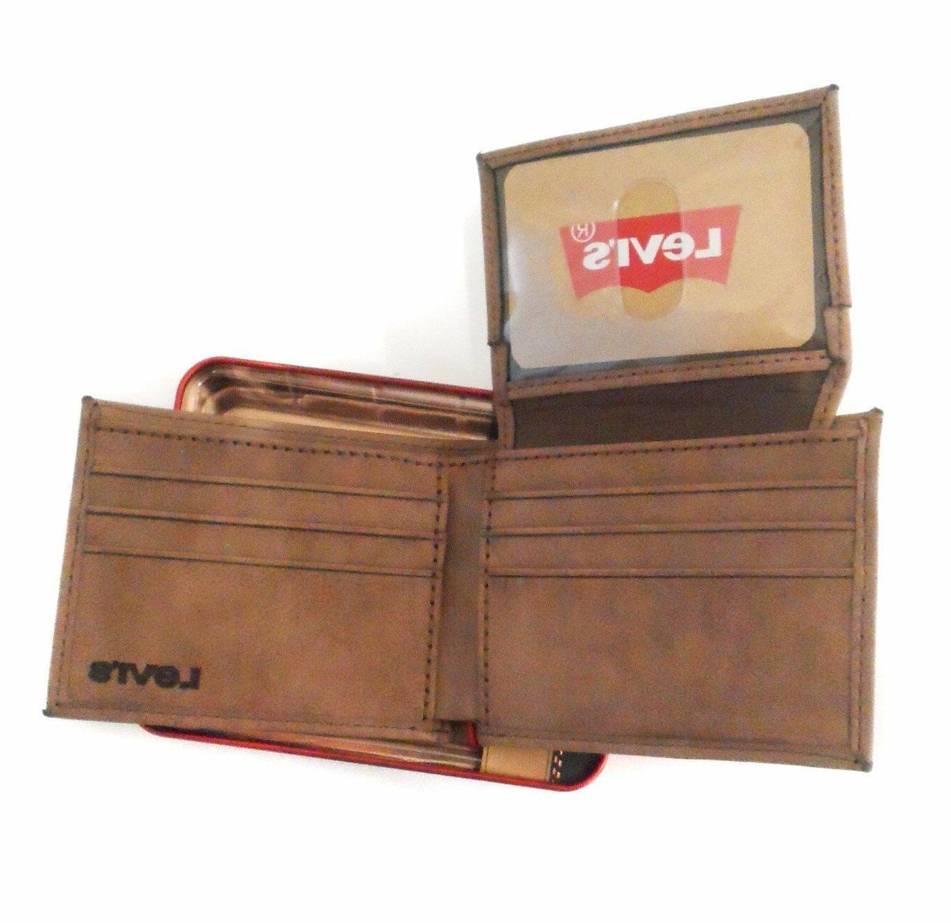 New Men's Leather Bifold Brown 31LP220030