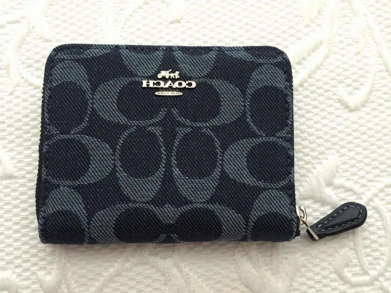 nwt f67586 small zip around wallet in