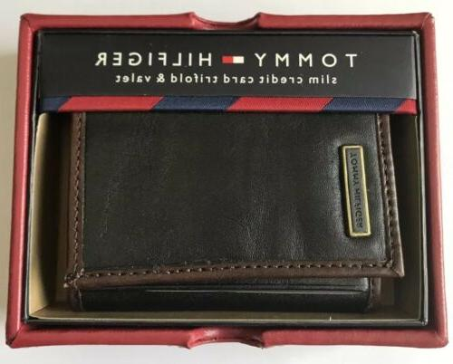 nwt men s leather slim credit card