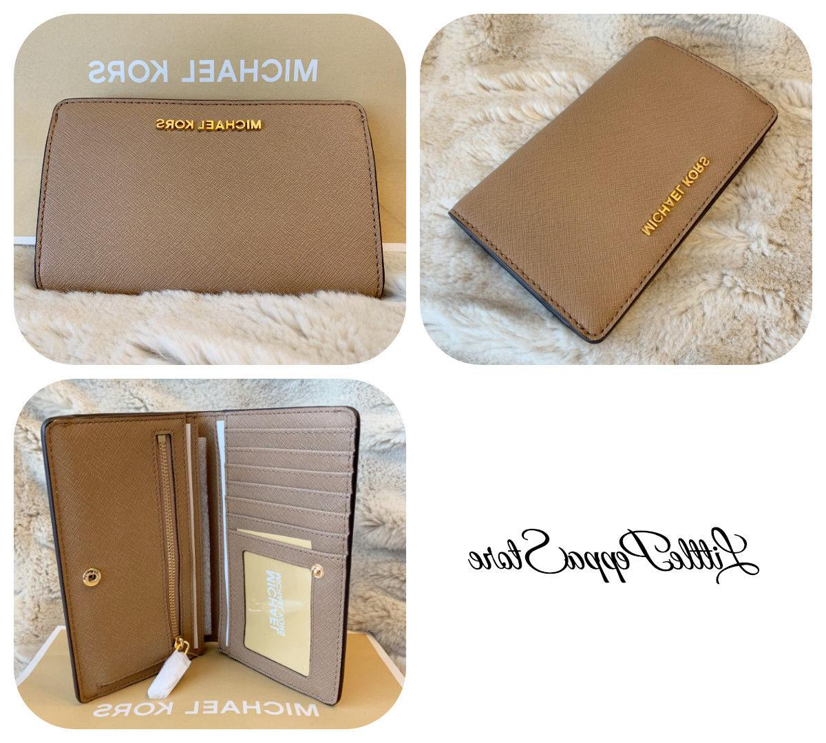 NWT KORS OR LEATHER TRAVEL BIFOLD IN VARIOUS