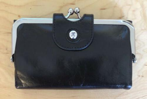 nwt women s leather wallet alice black