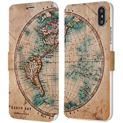 old map iphone wallet case x xs