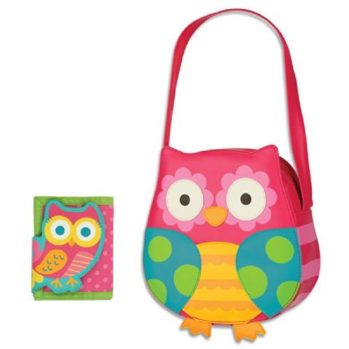 owl purse wallet combo