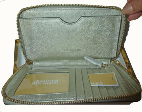 Michael Kors Pale Leather Glitter Phone Case Giftable Wallet