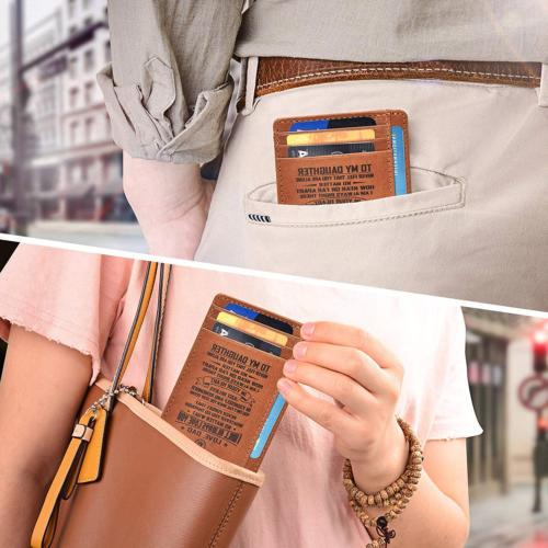 Personalized-Gifts Dad Brown Leather Wallet Women