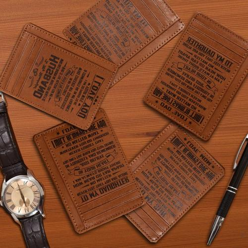 Personalized-Gifts for Dad Leather Wallet for 4
