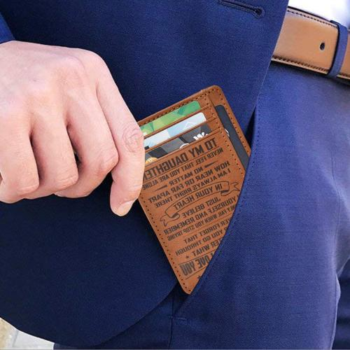 Personalized-Gifts for Dad - Brown Leather Wallet 4