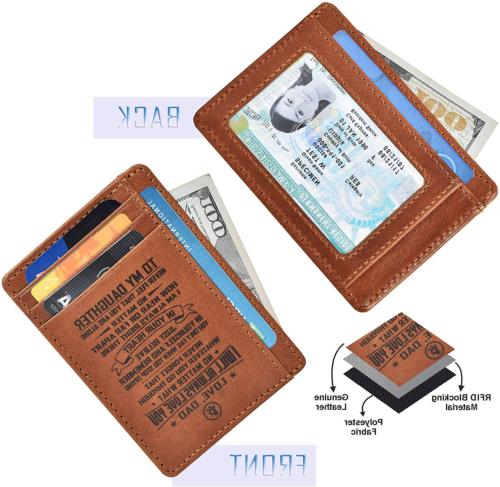 Personalized-Gifts for Daughter Dad - Real Leather Wallet for Women 4