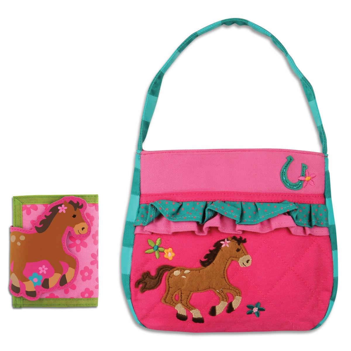 quilted horse purse wallet