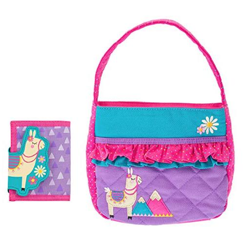quilted llama purse wallet