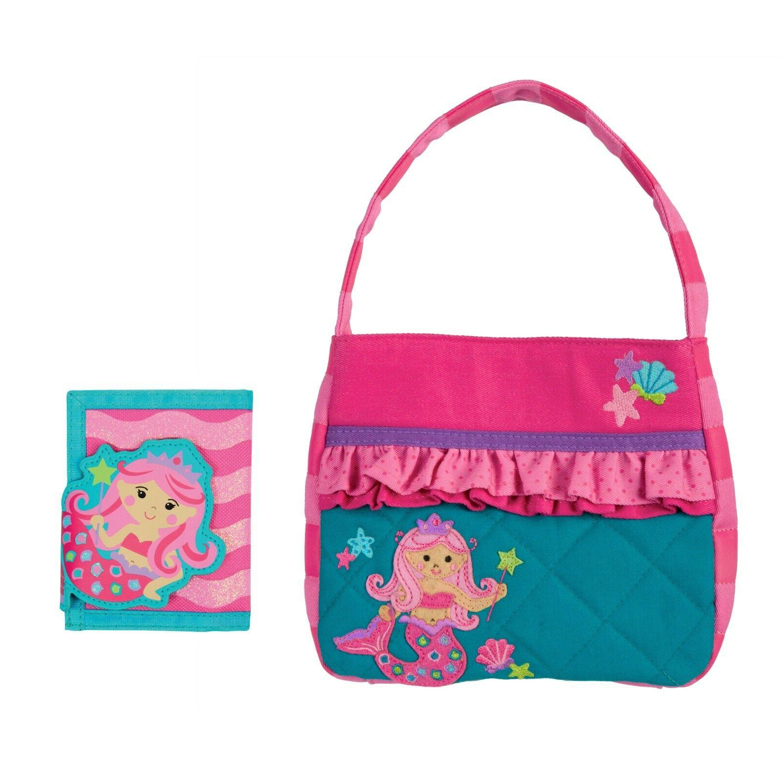 Quilted Mermaid Purse and Wallet for Girls - Cute Kids Handb