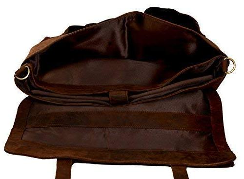 KomalC 18 Retro Buffalo Hunter Leather Messenger Office College Men and