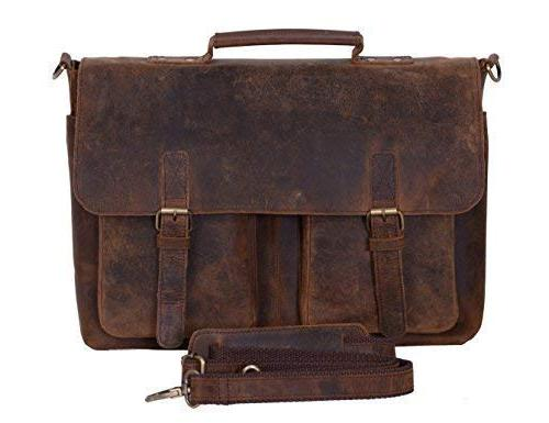 KomalC Retro Buffalo Messenger Bag College Bag for and Women