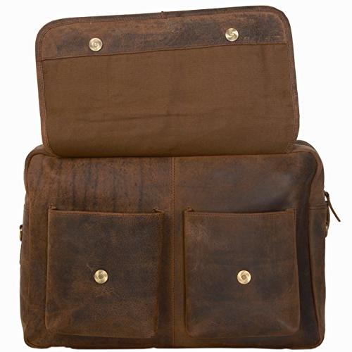 KomalC 16 Inch Buffalo Laptop Messenger Briefcase College Bag 15.6 Inch Laptop