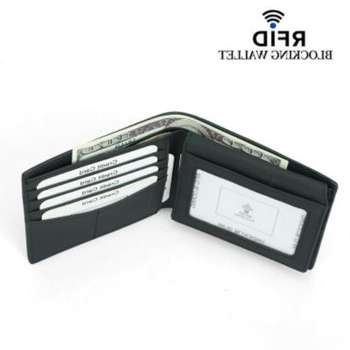 RFID Men's Fiber Leather Card Wallet US