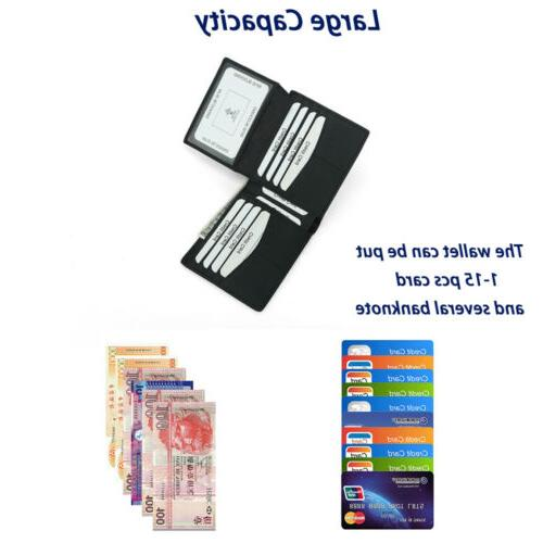 RFID Carbon Fiber Card Holder Wallet US