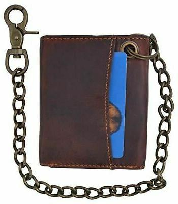 RFID Vintage Chain Wallet With