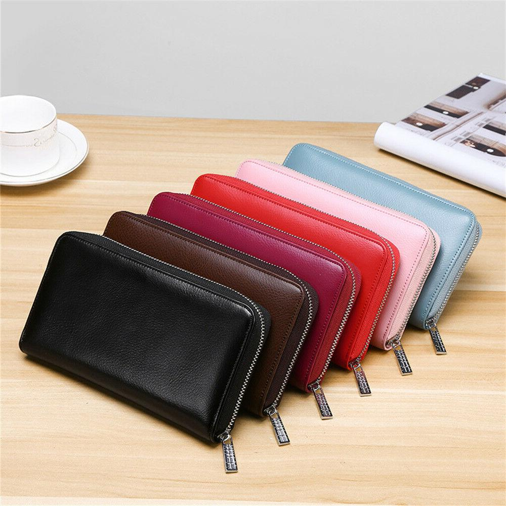 RFID Mens/Womens Genuine Credit Card Holder Long