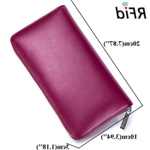 RFID Mens/Womens Genuine Credit Card Holder