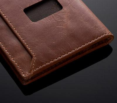 Alpine Slim Leather Front Pocket Wallet