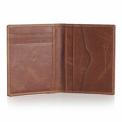 Alpine Swiss Slim Card Leather Front