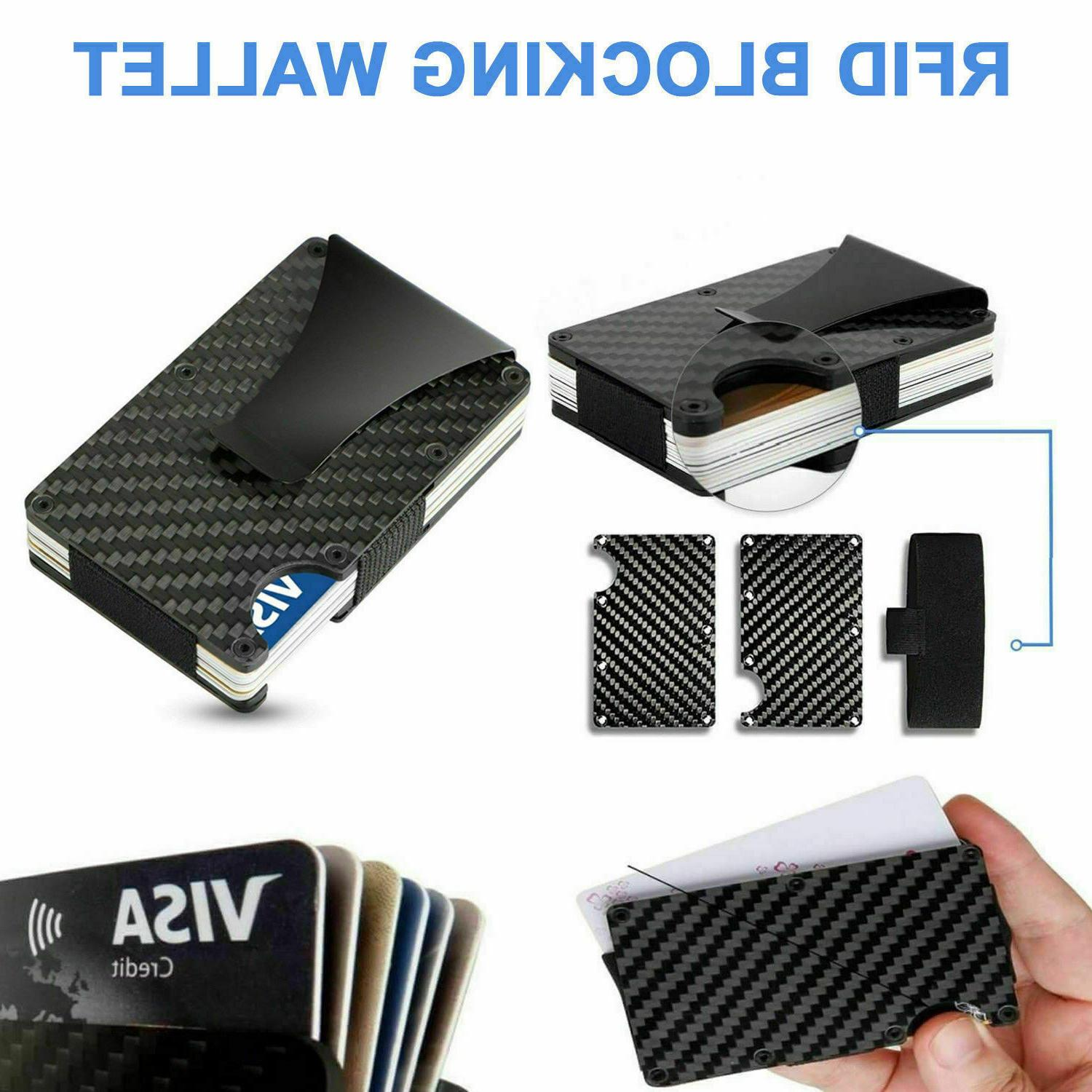 RFID Blocking Clip Credit Metal Wallet