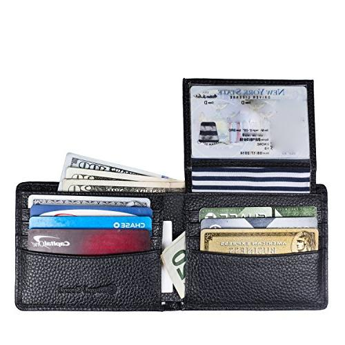 RFID Blocking & Stylish Genuine Wallets for Extra Capacity Multi Card Travel Sleek and Stylish Genuine Leather,