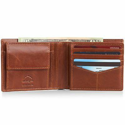 Alpine RFID Wallet Deluxe Capacity Divided Bill Section 5 Styles