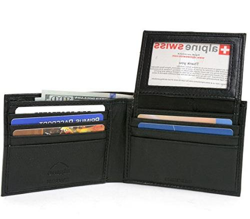 rfid safe leather bifold passcase