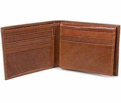 Mens Deluxe Leather 14 Bifold
