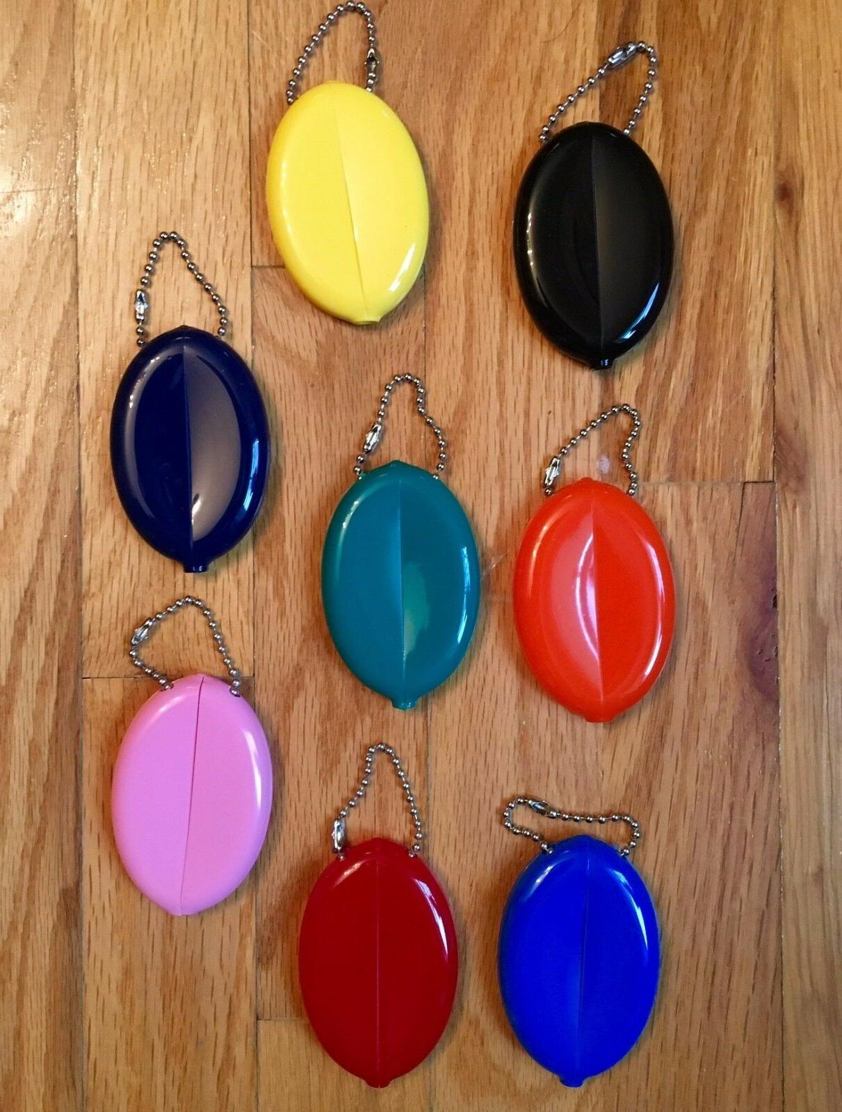 rubber squeeze oval coin purse mens womens