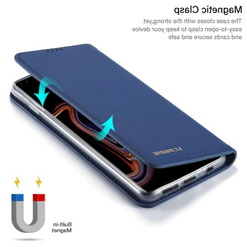 For Samsung Note 10 S8 Case Magnet Leather