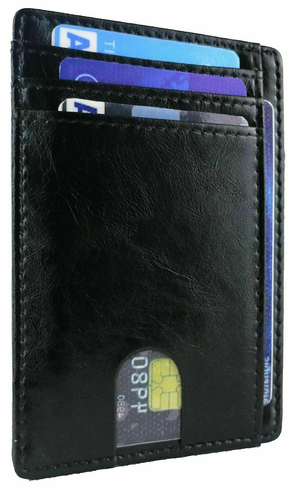 Slim Minimalist Front RFID Carbon Wallets for