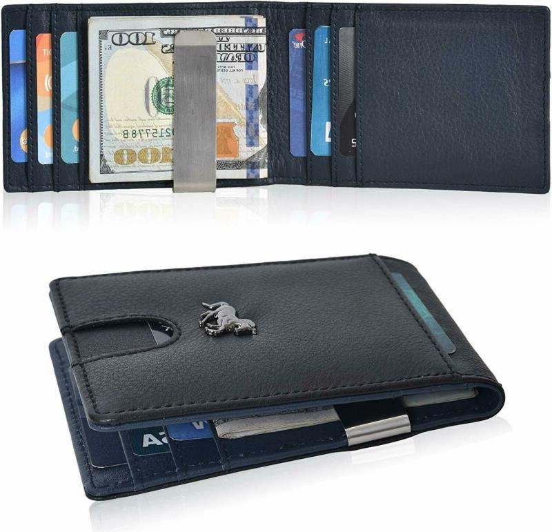Slim Money Clip For Leather Wallet