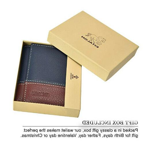 Slim mens wallet with technology blocking