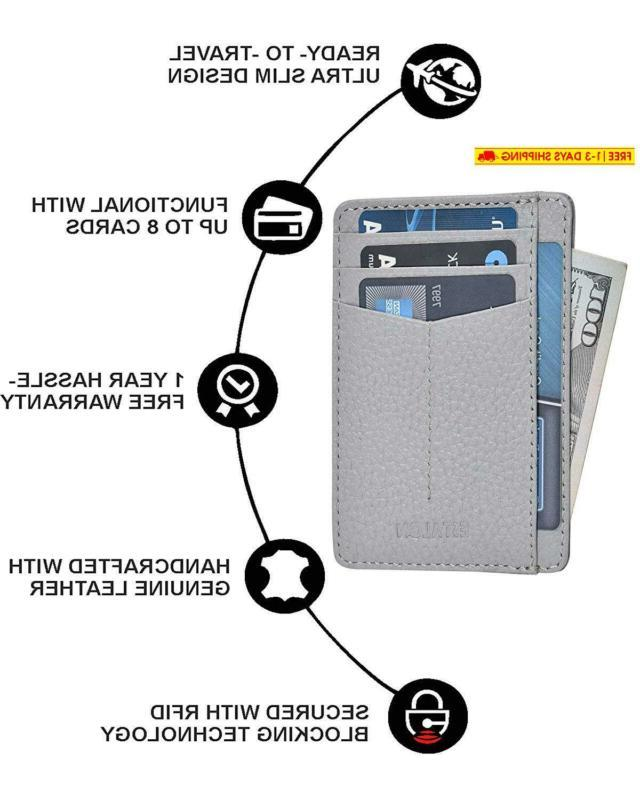 Slim Wallets For Women With Rfid Front Pocket Thin