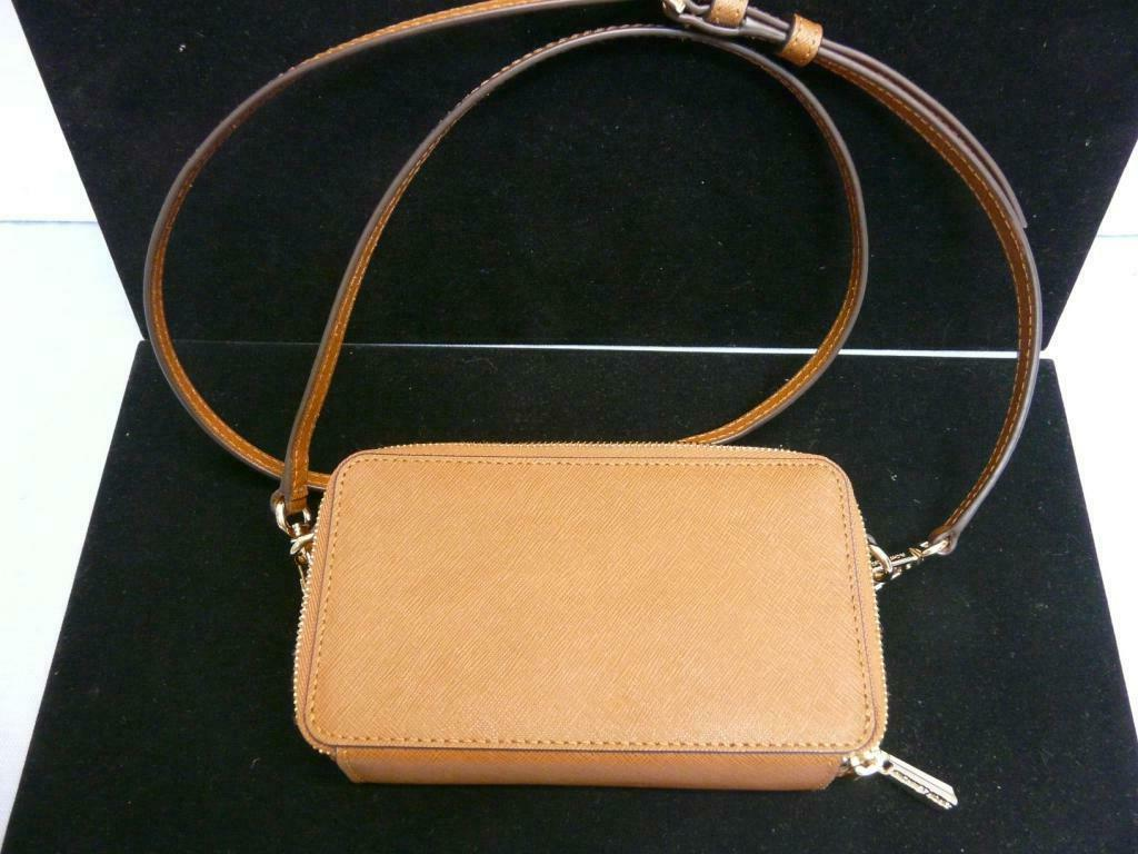 Michael Kors Brown Leather Chain Phone Wallet double
