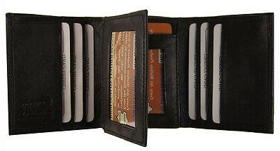 AG Wallets Crocodile Embossed Credit Card ID Black Wallet