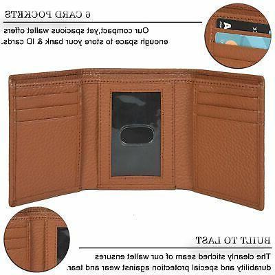 Trifold Wallets for Men - Protected Pocket Travel Wal...