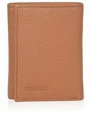 trifold wallets for men real leather rfid