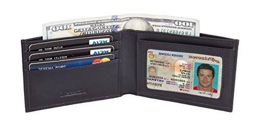 Chelmon Slim Wallet Front Wallet Bifold Leather RFID