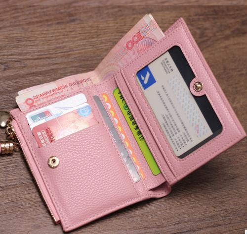 US Short Leather Small Purse Card Holders