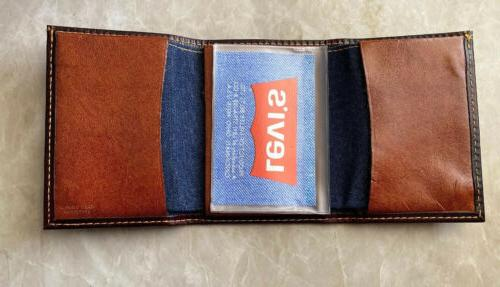 Vintage 1970S Tag Leather Wallet